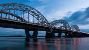 Дарницкий мост вид с воды