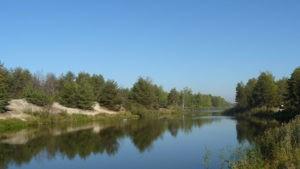 Пляжи обводного канала Киевского водохранилища