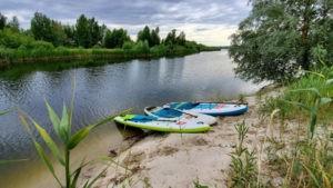 Лето на пляже высокий берег Осокорки